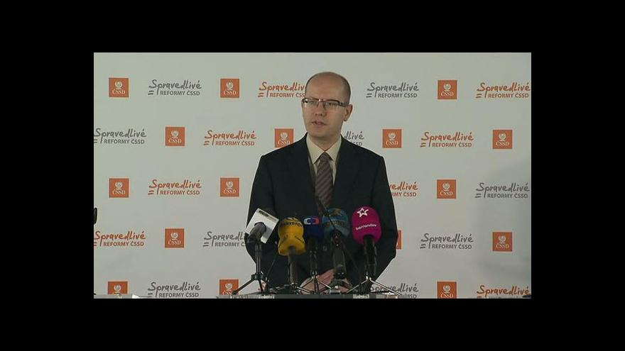 Video Brífink ČSSD po jednání grémia