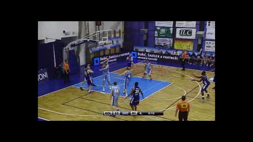 Video Ostravští basketbalisté srovnali stav série s Kolínem na 1:1