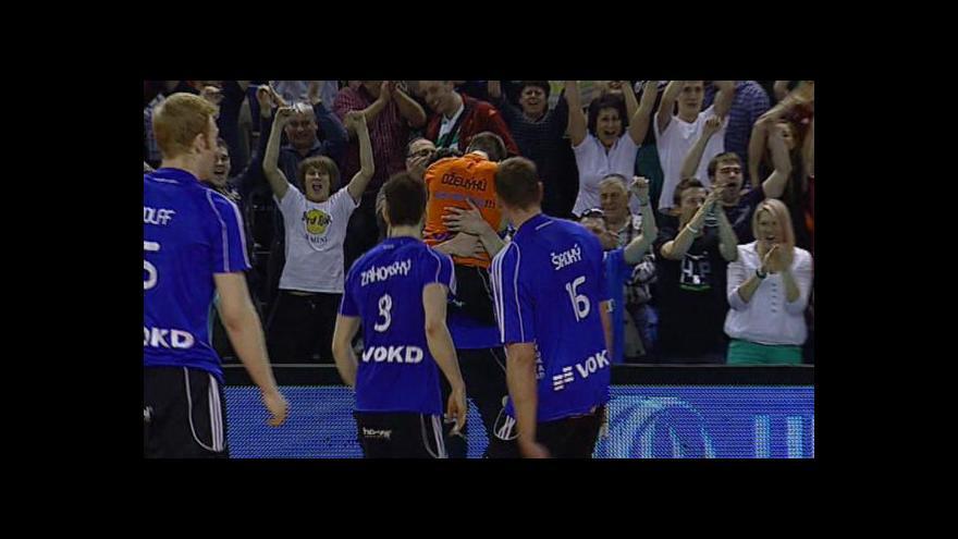 Video Sestřih čtvrtého finále volejbalistů Ostrava - Č. Budějovice