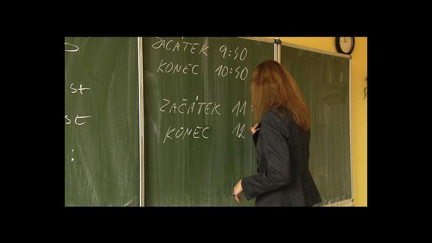 Video Na středních školách začalo první kolo přijímacích zkoušek