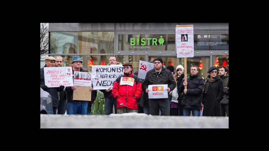 Video Protikomunistický happening v Českých Budějovicích