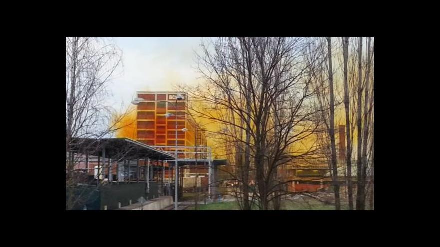 Video Amatérské záběry žlutého mraku nad Otrokovicemi