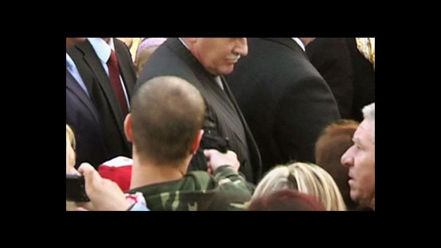 Video Žaloba za útok na Václava Klause