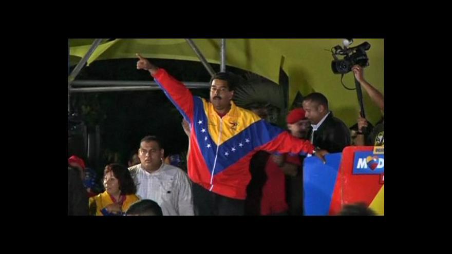 Video Maduro bude pokračovat v Chávezových stopách