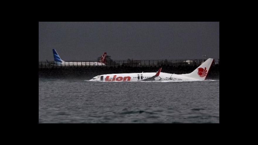 Video Pád letadla na Bali
