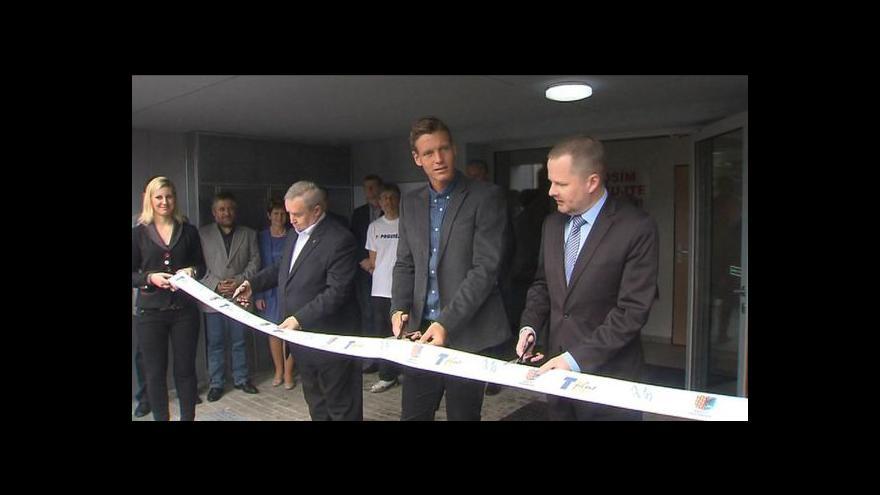 Video Tomáš Berdych otevřel novou tenisovou halu v prostějovském areálu
