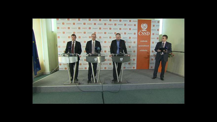 Video Brífink ČSSD k aktuálním tématům