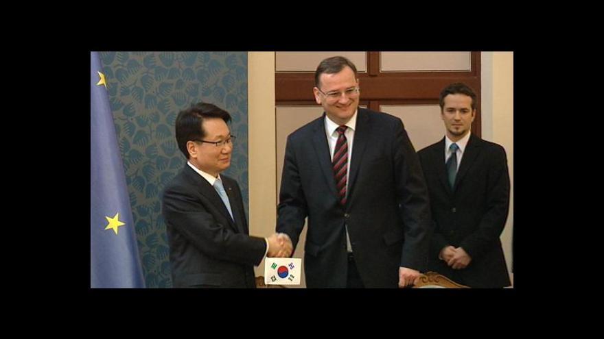 Video Podpis smlouvy o prodeji podílu v ČSA firmě Korean Air