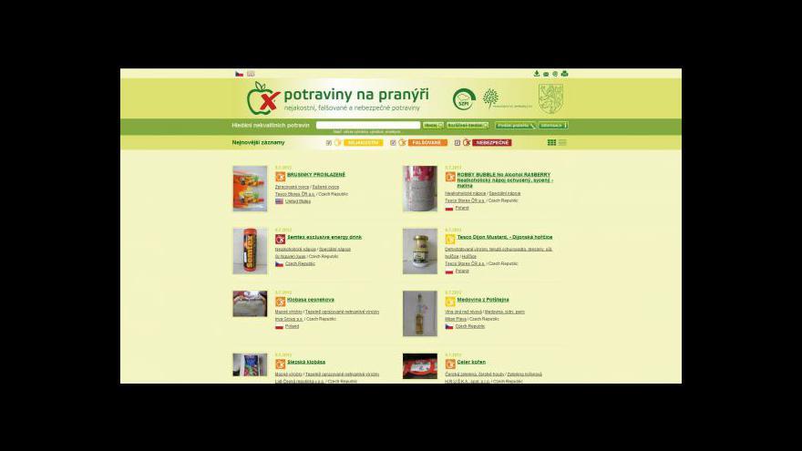 Video Potravinové weby
