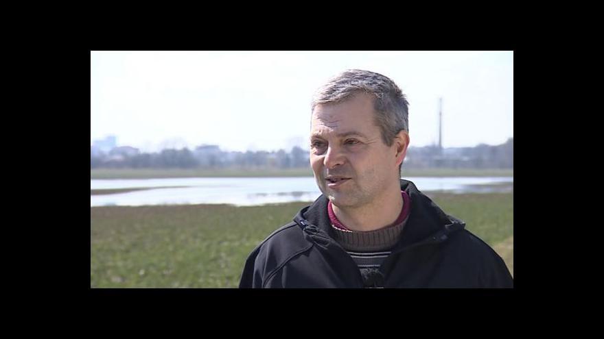 Video Zemědělec Jaroslav Hrdý o zaplavených polích