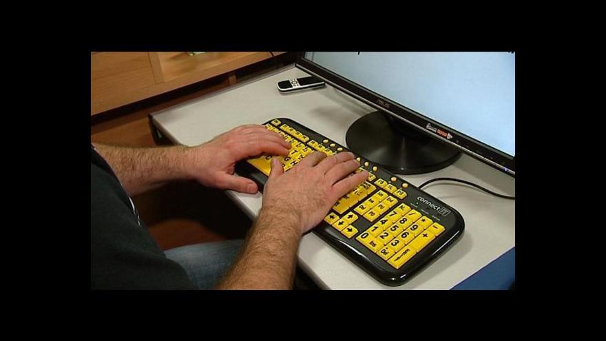 Video Zrakově postižení mají problém najít práci