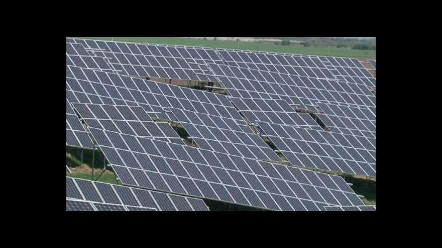 Video Fotovoltaiku mají řešit bezpečnostní složky
