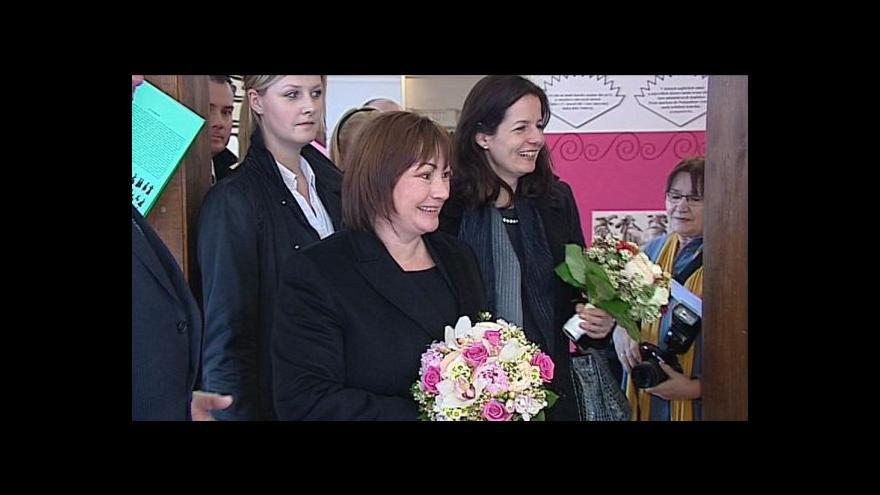 Video Události o návštěvě Ivany Zemanové na Slovensku