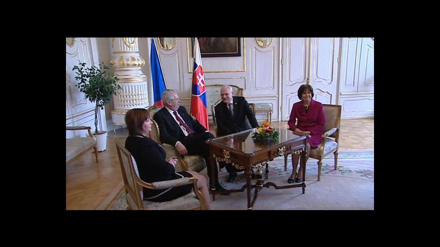 Video Události o návštěvě Miloše Zemana na Slovensku