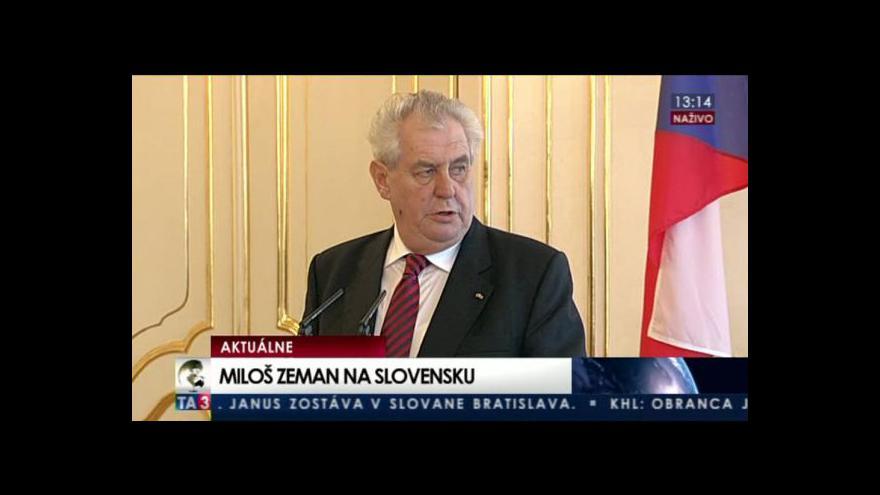 Video Brífink Miloše Zemana a Ivana Gašparoviče