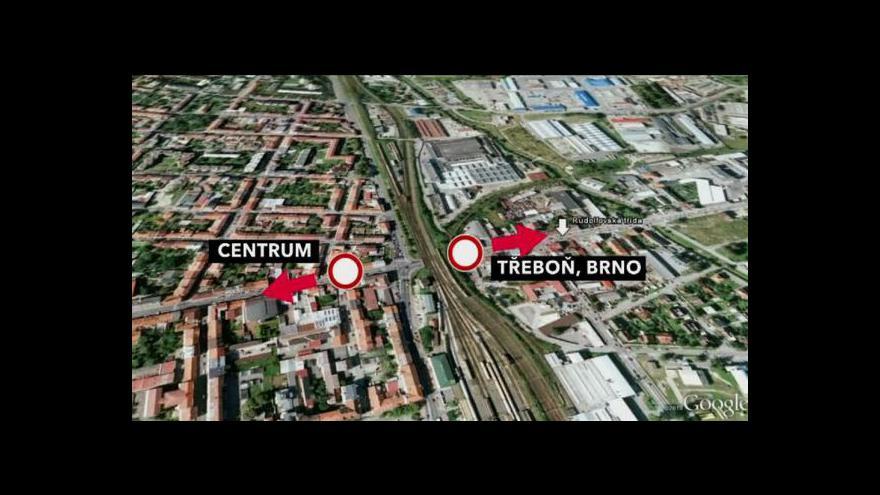 Video Veronika Kabátová o uzavírce v Rudolfovské