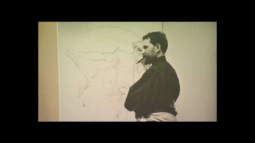 Video Ivan Lendl vystavuje dílo Alfonse Muchy