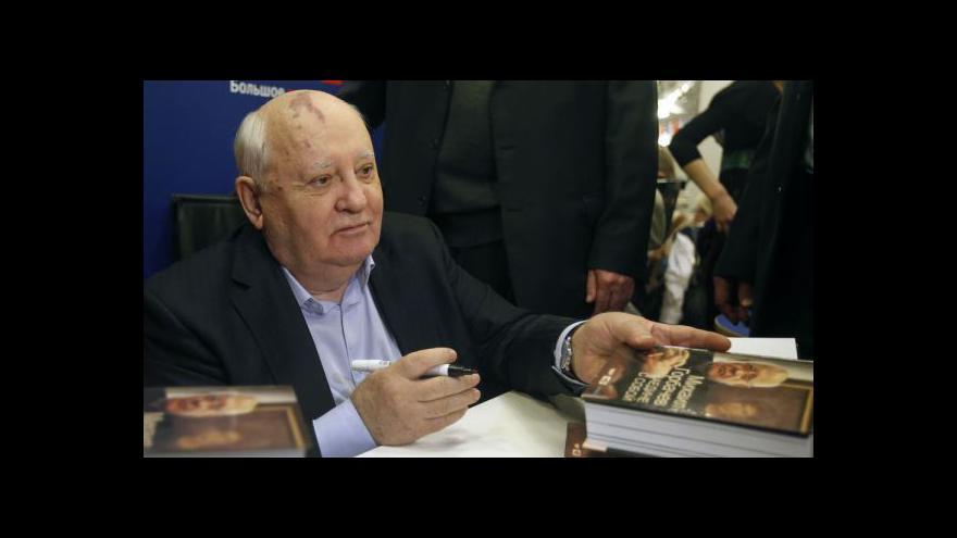 Video Gorbačov kritizoval současné vedení Ruska