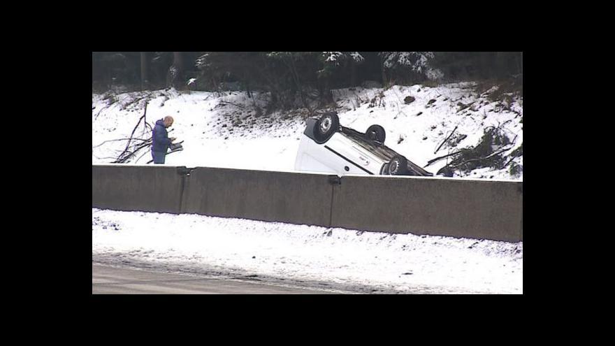 Video Nehoda na D1 a policisté na silnicích