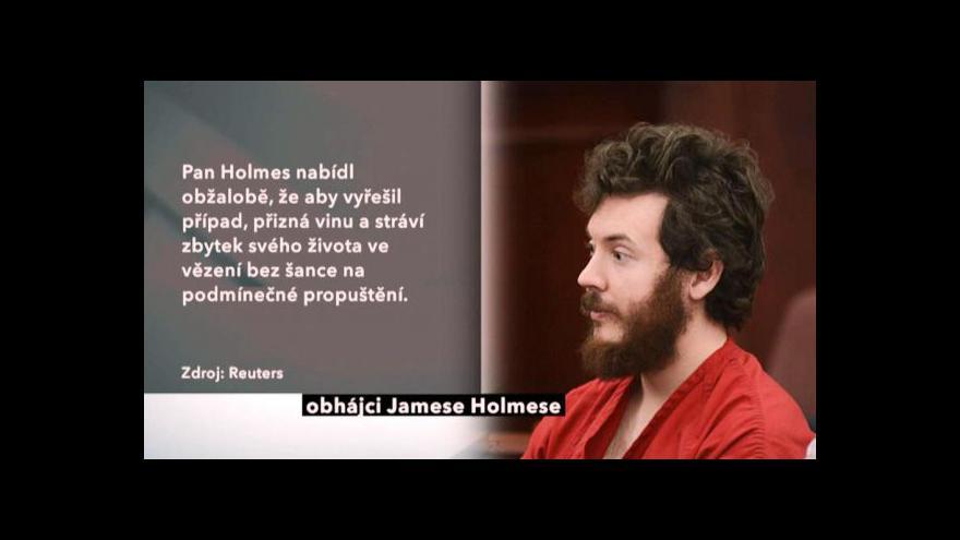 Video Soud projednává trest pro Holmese