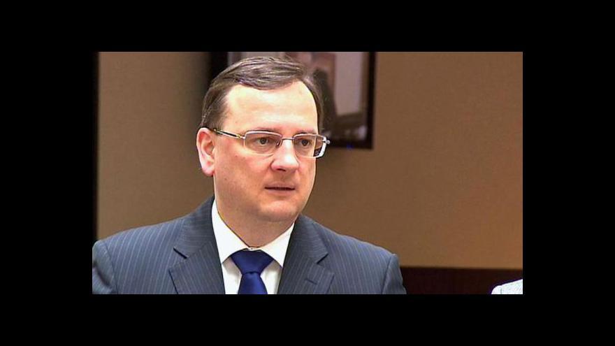 Video Brífink ČSSD a vyjádření Petra Nečase k opencard