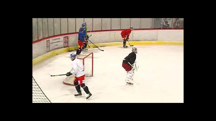 Video Hokejová reprezentace trénovala v Kravařích