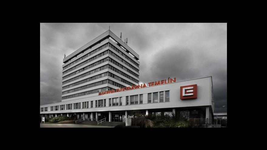 Video Dostavba Temelína tématem Ekonomiky ČT24