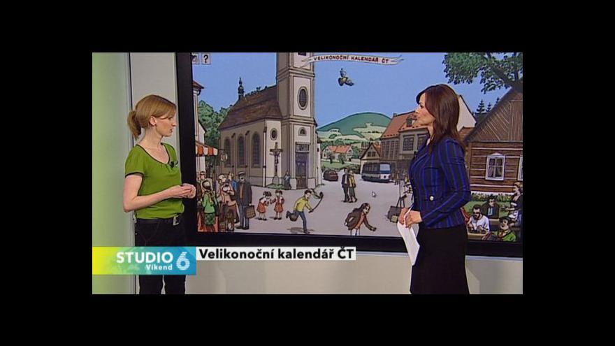 Video Štěpánka Sunková představuje velikonoční kalendář ČT