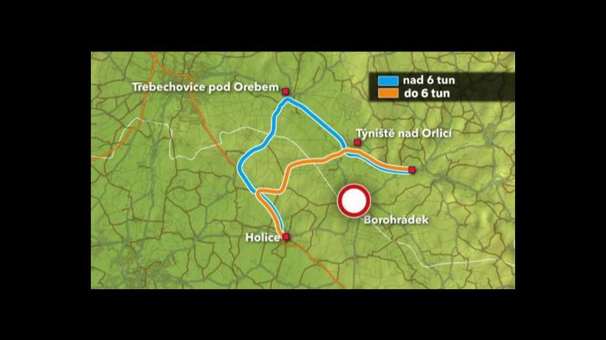 Video Přemysl Šrámek o uzavírce v Borohrádku