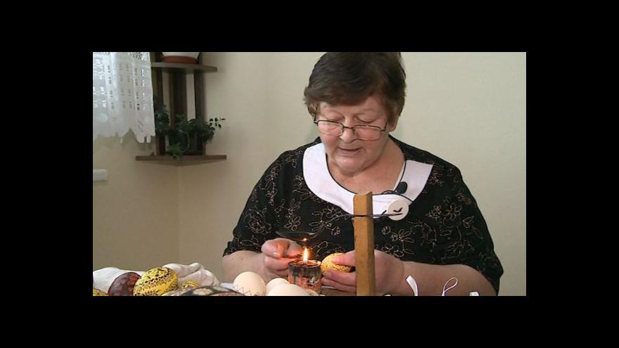 Video O zdobení vajíček hovoří malérečka Marie Vlčková