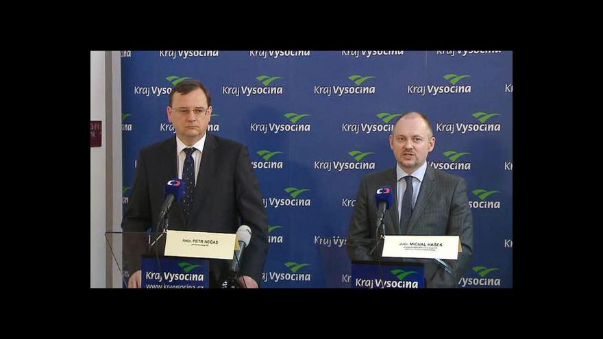 Video Brífink po jednání premiéra s hejtmany