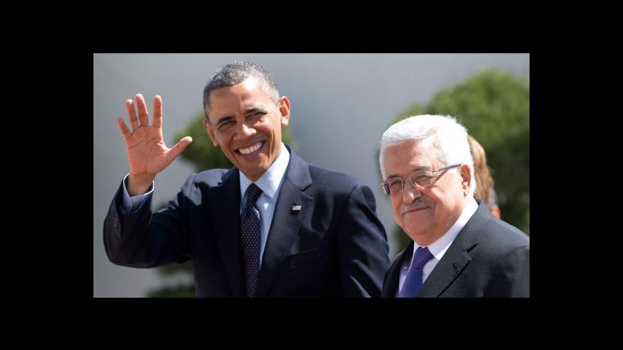 Video Během Obamovy návštěvy v Ramalláhu zněly obvyklé fráze