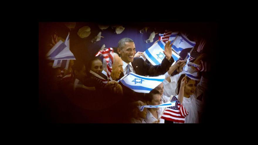 Video Barack Obama na návštěvě Izraele