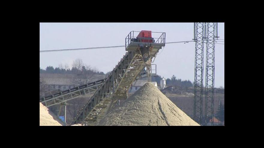 Video Veronika Kabátová o sporu o těžbu štěrkopísku