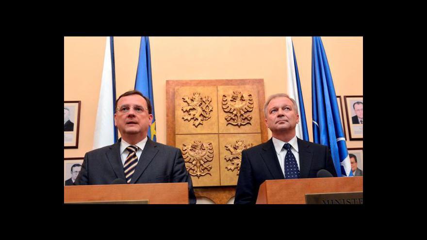 Video Jmenování ministra obrany tématem Událostí