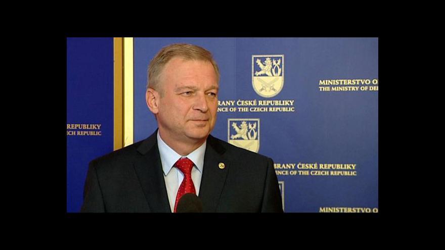 Video Vlastimil Picek bude ministrem obrany