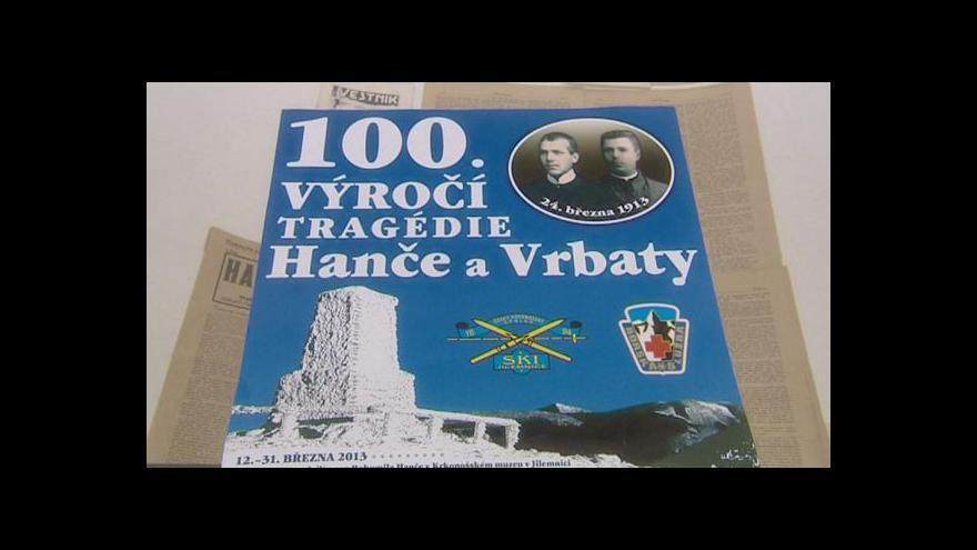 Video Výstava ke 100. výročí tragédie Hanče a Vrbaty
