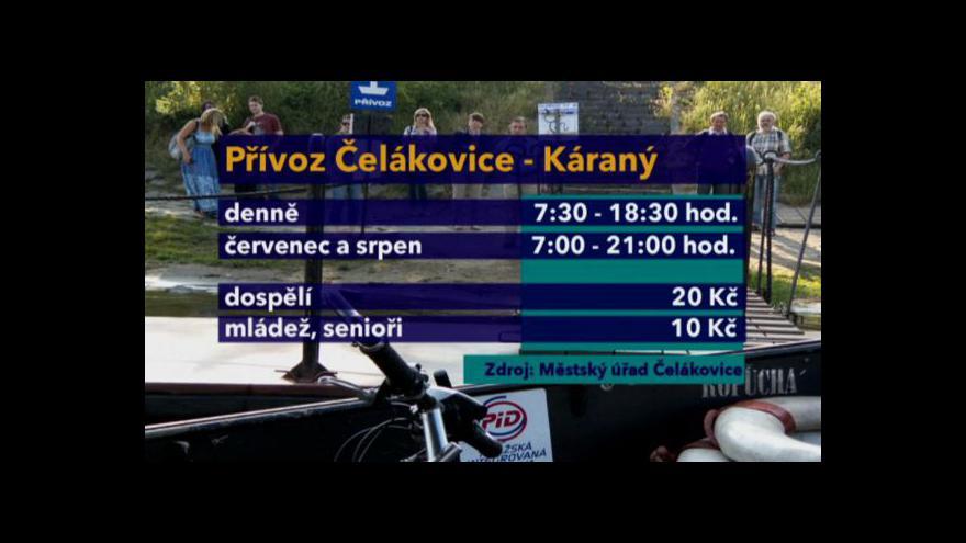 Video Mezi Čelákovicemi a Káraným bude jezdit přívoz