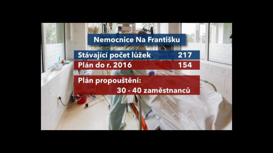Video Nemocnice Na Františku bude propouštět i rušit lůžka