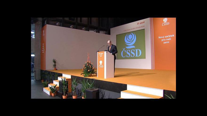 Video Kandidátský projev Bohuslava Sobotky