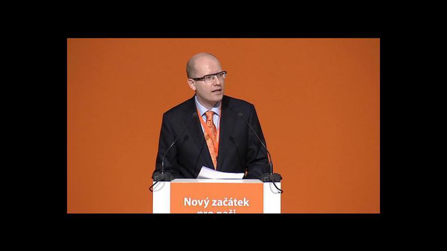 Video Projev Bohuslava Sobotky