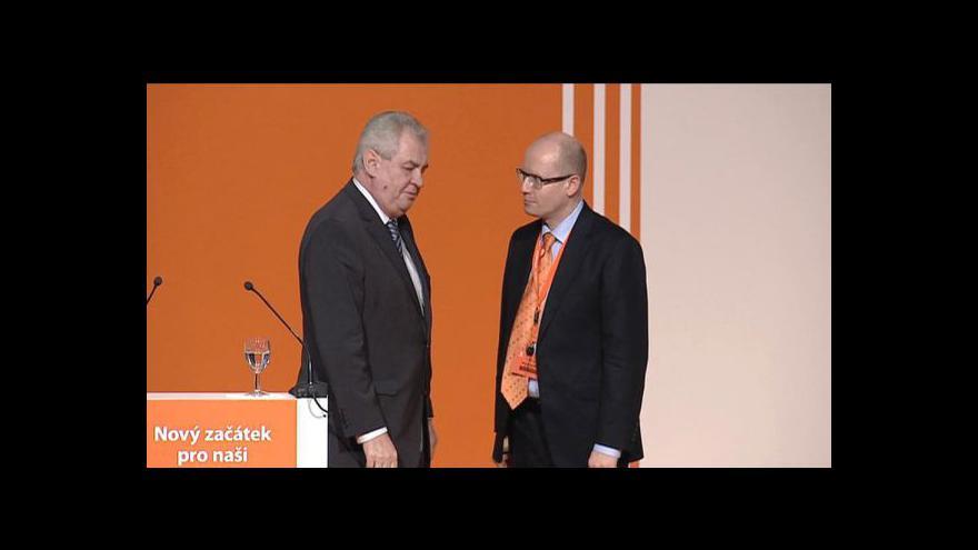 Video Projev Miloše Zemana na sjezdu ČSSD