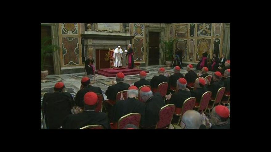 Video Papež promluvil ke kardinálům