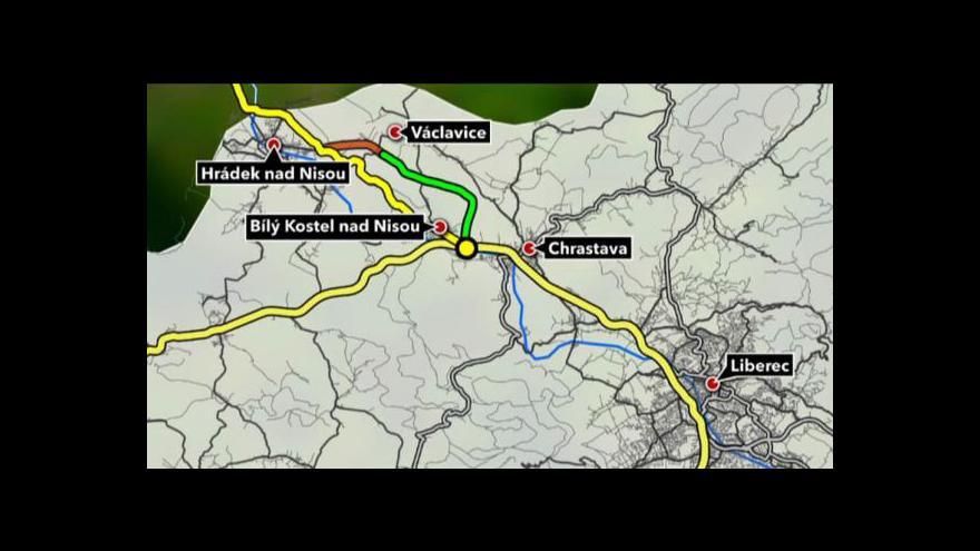 Video Dostavba silnice z Liberce do Hrádku se dále protahuje