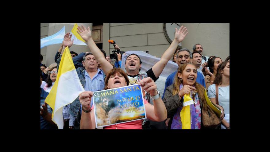 Video Argentina oslavuje svého papeže