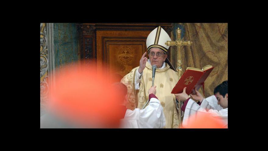 Video Souhrn prvního papežova dne v úřadu