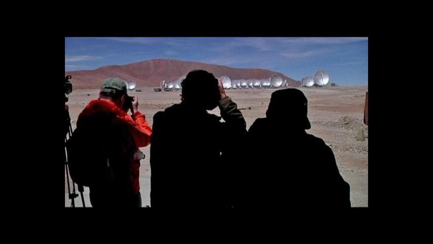 Video Marian Karlický k radioteleskopu ALMA