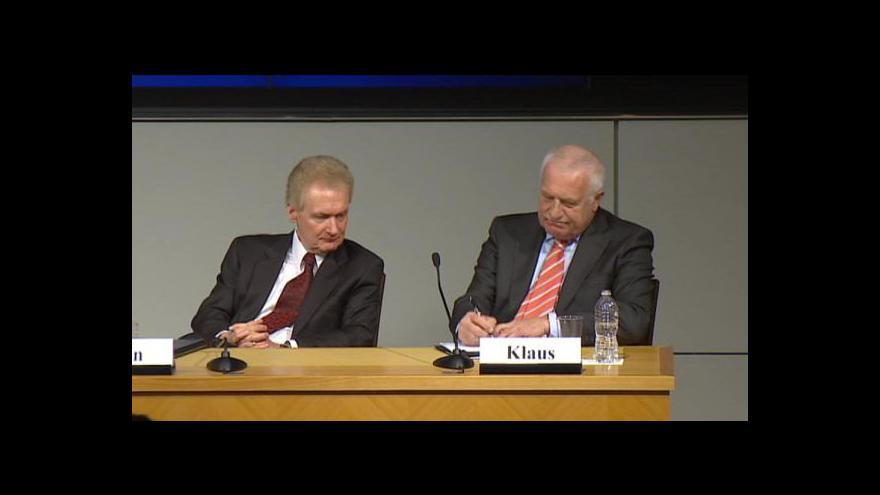 Video Václav Klaus v Cato Institute
