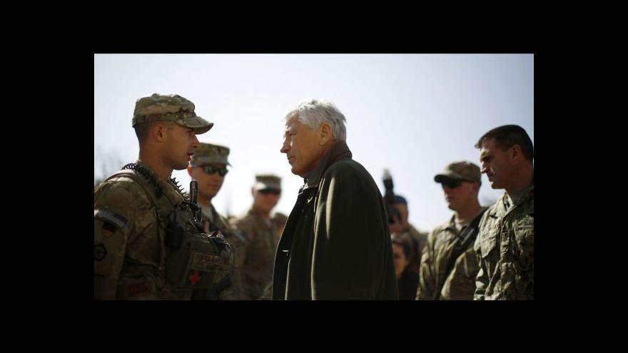 Video Chuck Hagel na návštěvě Afghánistánu