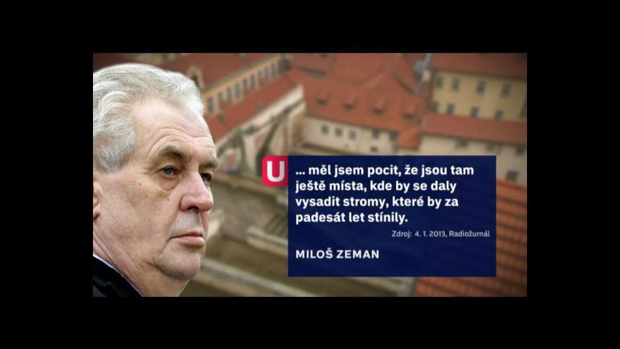 Video Události o záměrech prezidenta Zemana